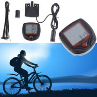 Bike Bicycle Cycling Odometer Speed Speedometer Waterproof Meter Mountain Bike