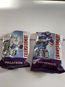 (2) Wendy's Transformers Kid's Meal Soundwave and Megatron Hasbro Toys NEW