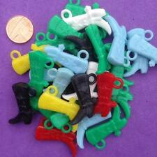 20 x Mixed Plastic Boot Charms, Key Rings, Jewellery, Crafts, Favours