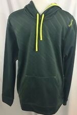 Mens Reebok Stay Warm Sport Hoodie Sage Reflective Large Pullover Sweater Pocket