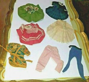 """VINTAGE AMERICAN CHARACTER 8"""" BETSY MCCALL OUTFITS LOT SCHOOL DAYS RECESS ++"""