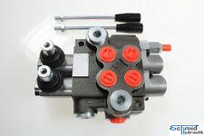 Hydraulik Steuerventil 2-Hebel Handhebelventil Steuergerät 50 Liter 2 Sektionen