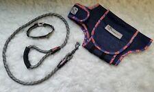 Kong Collar & 6 ft Training Leash Gray & Black / Red White & Blue ThunderShirt S