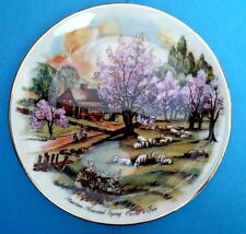 "1986 Heritage House ""American Homestead Spring"" Currier and Ives Limited Ed"