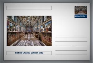 "Landmarks - Sistine Chapel, Vatican postcard (glossy 6""x4""card)"