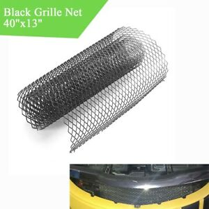 40x13'' Aluminium Grille Net Soft Rhombus Mesh Car Bumper Vent DIY Cut Universal