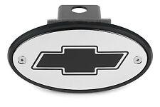 Chevrolet Bowtie Receiver Hitch Cover Chrome Black Engraving Tahoe Silverado