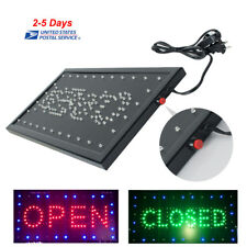 "Bright LED Open&Closed Store Shop Business Sign 19x10"" Display Neon 110V/220V US"