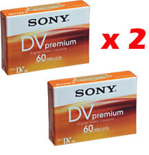 2 cassette video mini-dv SONY DV PREMIUM 60 min.Sp /90 min LP DVC CASSETTA NEW