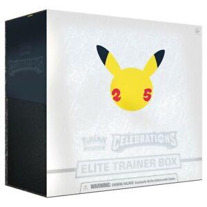 Pokemon Celebrations Elite Trainer Box 25th Anniversary - Brand New - Ships 10/8
