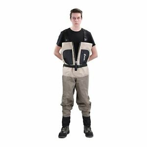 NEYGU Men's Quick-Drain Waterproof + Breathable FRONT-VENTING CHEST WADER - XXL