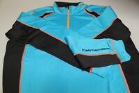 Catmandoo Stretch Golf Mid Layer 1/4 Zip Neck Turquoise/Black/Orange M, L,XL XXL