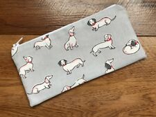 HANDMADE PENCIL MAKE UP GLASSES CASE MADE WITH CATH KIDSTON MONO DOG FABRIC