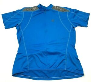 VINTAGE Pearl Izumi Cycling Jersey Size Extra Large Shirt 3/4 Zip Blue Gray Tee
