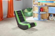 Kids Gaming Chair X Rocker Curve Floor Black/green Console Xbox Ps4 YouTube