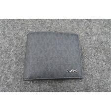 Michael Kors Mens $138.00 Cooper Coated Canvas Billfold Wallet Passcase - Black