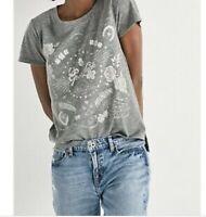$39.50 Lucky Brand Women's Hamsa Tee GOOD Luck MOONSHINE Gray J1