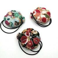 Cute Pumpkin Style Pin Cushion Pillow Needles Holder Sewing Craft Wrist Strap