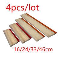 4 pcs Silk Screen Printing Squeegee Ink Scraper 16/24/33/46cm Scratch Durometer