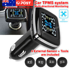 Wireless Car TPMS Tire Tyre Pressure Monitor System + 4 Sensor