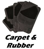 TOYOTA Carpet & Rubber Front & Rear Universal Car Mats Heavy Duty 4 Piece Set