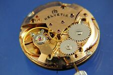 Gents Vintage NOS Helvetia Watch Dial + Movement ETA Cal 2763 New Condition
