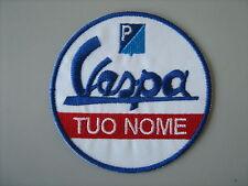 TOPPA VESPA SERVICE PERSONALIZZATA PATCH RICAMATO TERMOADESIVO CM.7,5 DIAM
