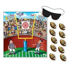 Pin the FOOTBALL PARTY GAME Sports Party Fun for 10 Guests SUPER BOWL Tailgate