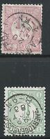 Netherlands Scott #34-35, Singles 1876-94 FVF Used