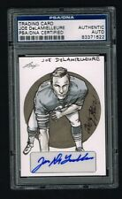 Joe DeLamielleure signed auto 2012 Leaf Original Sketch card 1/1 PSA Slabbed