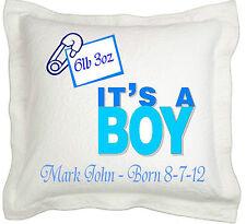 Neugeborene Baby Junge Geschenk Personalised Kissenbezug
