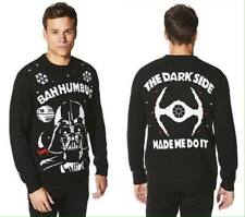 Mens Star Wars Darth Vader 'Bahhumbug' Knitted Christmas Jumper With Sound ~ XS
