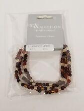 Foster Grant Neutral Earth Tone Beads Chain Eyewear Eye Glass HOLDER/Lanyard