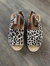 Stella McCartney Ladies Flats Sandals Animal Prints Size 38 UK 5