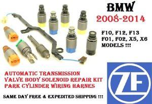 08-14 BMW F10 F12 F01 F02 X5 X6 Transmission Valve Body Repair Solenoid Kit ZF