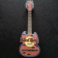 PITTSBURGH USA🎸Hard Rock CAFE® HRC PIN 17272 🎸2003 Brick WALL ORANGE Guitar🎸