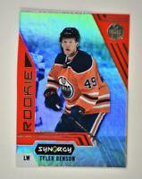 2020-21 UD Synergy Red Bounty Code Rookie #123 Tyler Benson RC - Edmonton Oilers