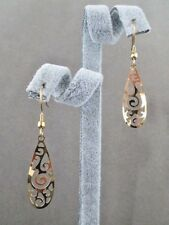 Earrings Dangle Scroll Design Gold Plated Stainless Steel Hook Female Fashion