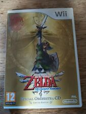 wii ZELDA SKYWARD SWORD Legend Of + Special Orchestra CD Limited Edition PAL UK