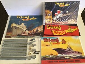 Triang Minic ships assortment of parts plus repro advertising signs
