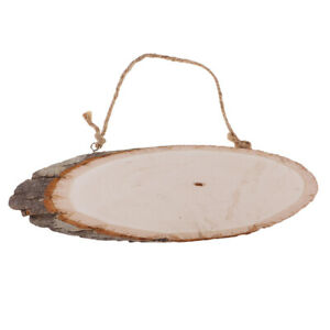 Large Oval Natural Hanging Wood Slices Tree Bark Wooden Pieces DIY Craft Making