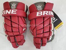NEW Brine Clutch Maroon Red / Gray Sz: Medium Lacrosse Gloves