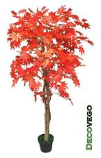 Maple Tree Artificial Foliage Plant Tree 150cm Real Wood Red Leaves Decovego