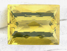 89 Carat Rectangle Checkerboard Natural Brazilian Citrine Gem Stone Gemstone