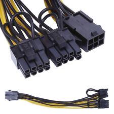 6Pin Stecker auf Dual 8pin Buchse PCI-E-Modul-Anschluss-Karte Netzteil-Kabel