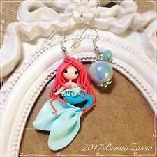 Orecchini Ariel ~ Cute Little Mermaid Earrings Disney Fimo Polymer Clay Kawaii