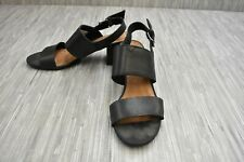 **Toms Poppy 10011698 Sandals, Women's Size 7.5, Black Leather