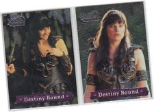 "Xena Series 3 (Three) - 2 Card ""Destiny Bound"" Chase Set 1of2/2of2 Double Sided"