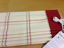 Roman Blind Made With Laura Ashley Corby Cranberry Check Fabric 2 Blinds 200cm X 152cm for Ian Ivory Standard Lining