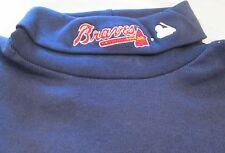 MLB Atlanta Braves Long Sleeve Turtle Neck T-Shirt Small Embroidery logo